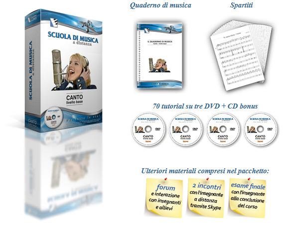 imparare studio canto dvd