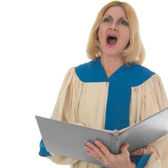 la cantante lirica canta