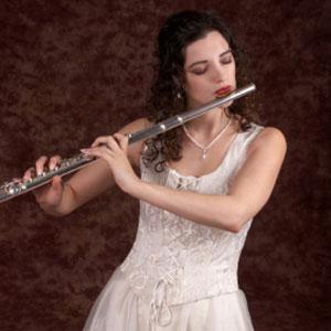 ragazza che suona il flauto